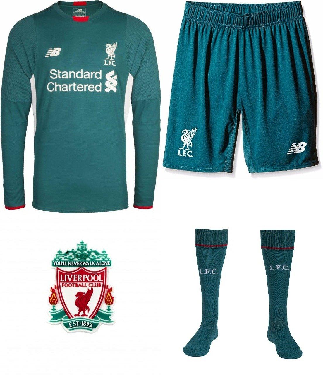 the best attitude 70541 fb499 Liverpool Goalkeeper Full Kit Long Sleeve Shirt Shorts ...