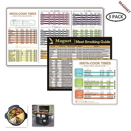 Instant Pot Cheat Sheet Magnets 2 Set,Instant Pot Electric Pressure Cooker  Cookbook,Instant
