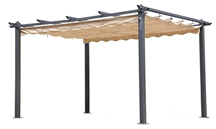 Pergola In Alluminio Per Esterno Cm 300x400 In Poliestere Amazon It