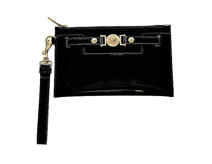 634740b4 Versace Women's Medusa Buckle Patent Leather Clutch DP8E592 DVRNX ...