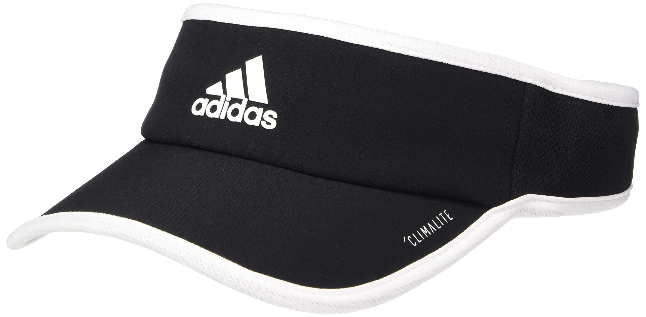 adidas Women's Superlite Performance Visor, Black/White, ONE SIZE by adidas