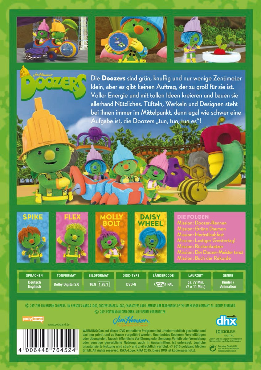 Doozers - DVD 2 - Folge 8 - 14: Amazon.co.uk: DVD & Blu-ray