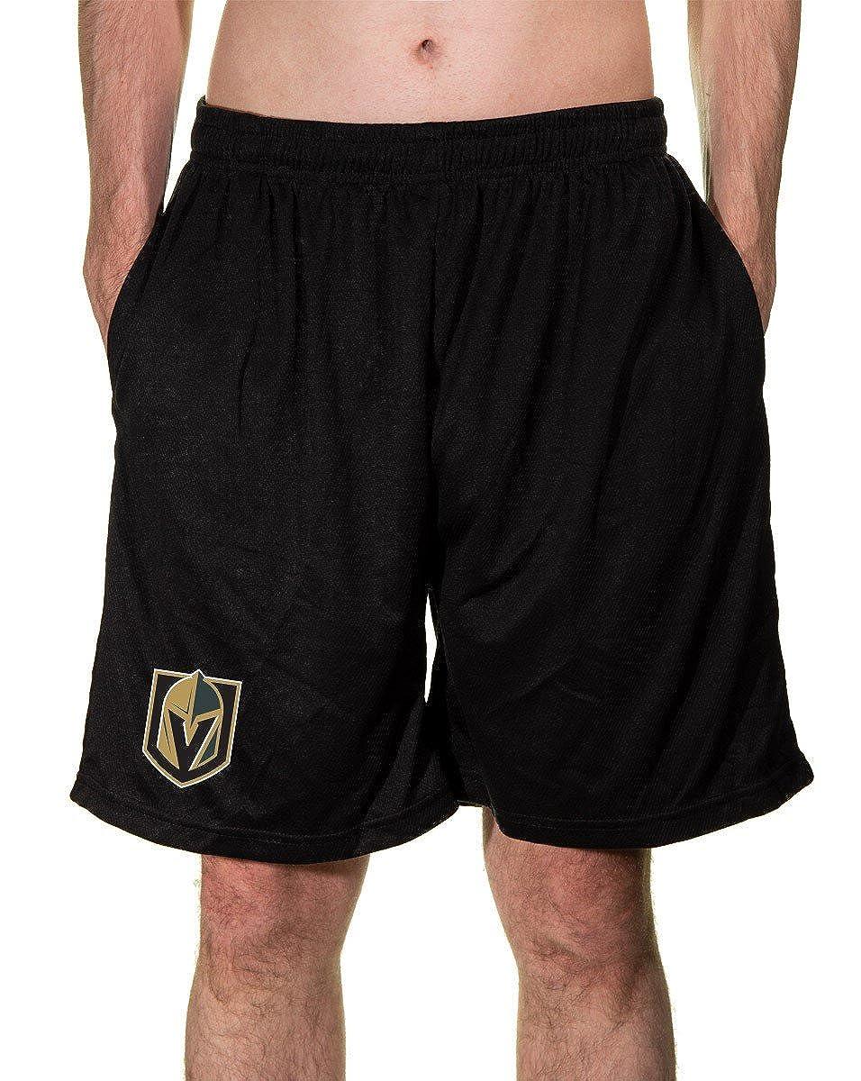 Calhoun NHL Mens Team Logo Air Mesh Shorts