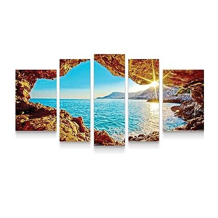 Startonight Quadro su Tela Sedetevi alla Finestra, Quadri Moderni Paesaggio  Stampe Incorniciato e Pronta da Appendere per Camere da Letto 90 x 180 CM