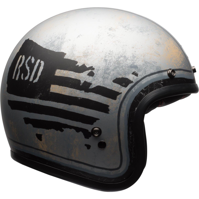 Bell Helmets Cruiser 2017 Custom 500 SE - Casco de adulto, RSD 74, color negro y plateado, talla 2XS: Amazon.es: Coche y moto