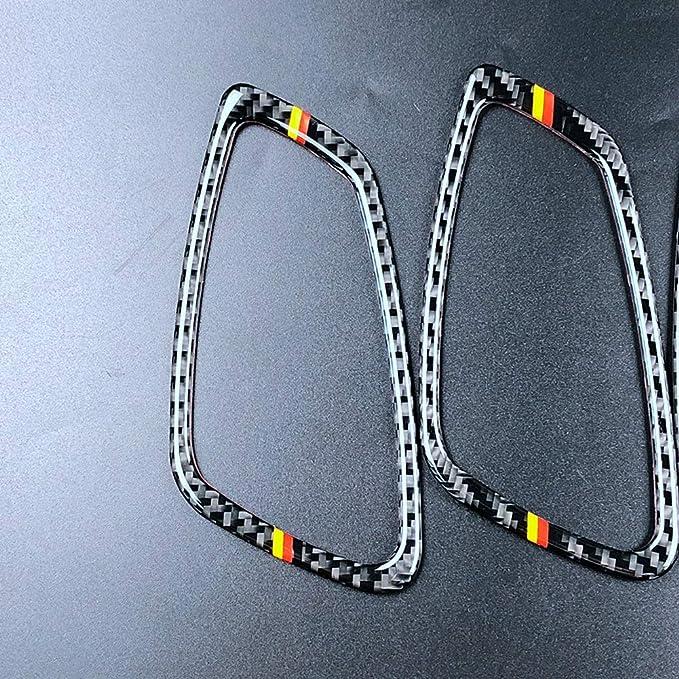 Cornice in fibra di carbonio per interni Maniglia per porta Decorazione cornice per 3 serie E90 E92 E93 2005-2012 A
