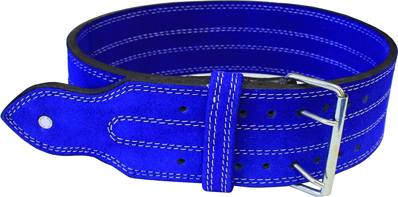 ADER Leder Power Gewicht Lifting, blau, 4, BG447, doppelte Schnalle (L 34–39) von Ader Sporting Goods
