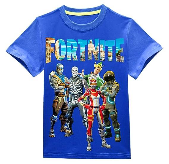 Fortnite Verano Niño Camisetas Flojo Moda Impresión T-Shirt Camisas tee Blouses Casual Cuello Redondo Manga Corta Tops Blusa Chico Niña: Amazon.es: Ropa y ...