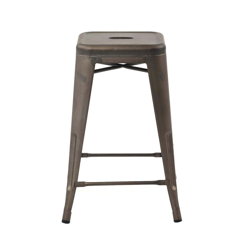 Amazon.com: Taburetes BS-TH10-24, Metal, Bronce: Kitchen ...