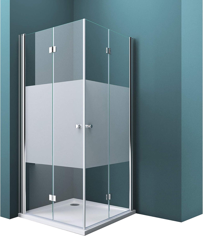 AICA cabine de douche 120x90cm accacc/ès dangle cabine de douche rectangle porte de douche coulissante hauteur:195cm