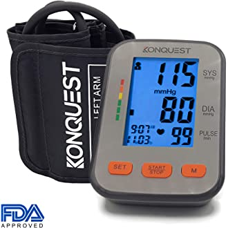 #8 Konquest KBP-2704A Automatic Upper Arm Blood Pressure Monitor - Accurate, FDA Approved -