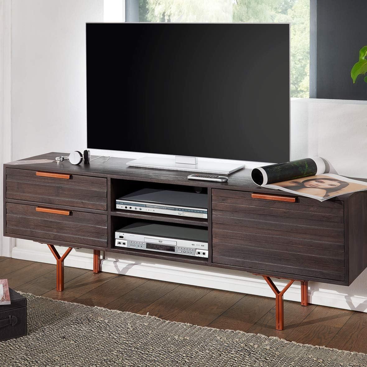 KadimaDesign - Mueble bajo para televisor de Madera Maciza de ...