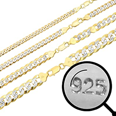 3-10mm 18-30 Great Necklace for Pendants Italy Made Harlembling Mens Ladies Solid 925 Sterling Silver Figaro Link Chain