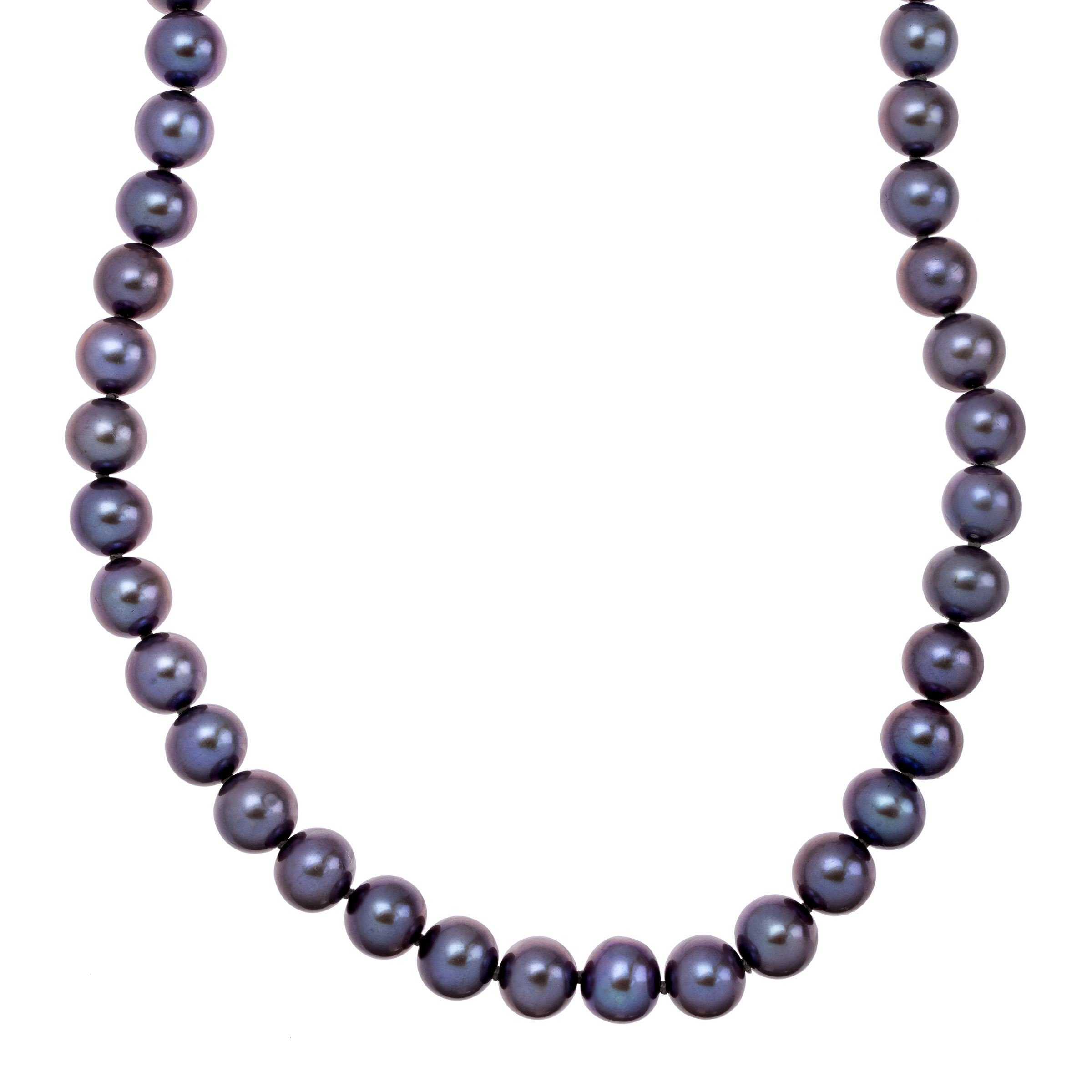 Honora 8-9 mm Black Freshwater Cultured Pearl Strand Necklace in 14K Gold by Honora