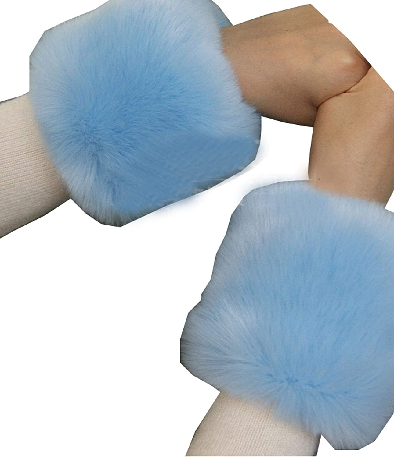 Ysting Faux Fox Fur Hair Soft Wrist Band Ring Cuff Warmer