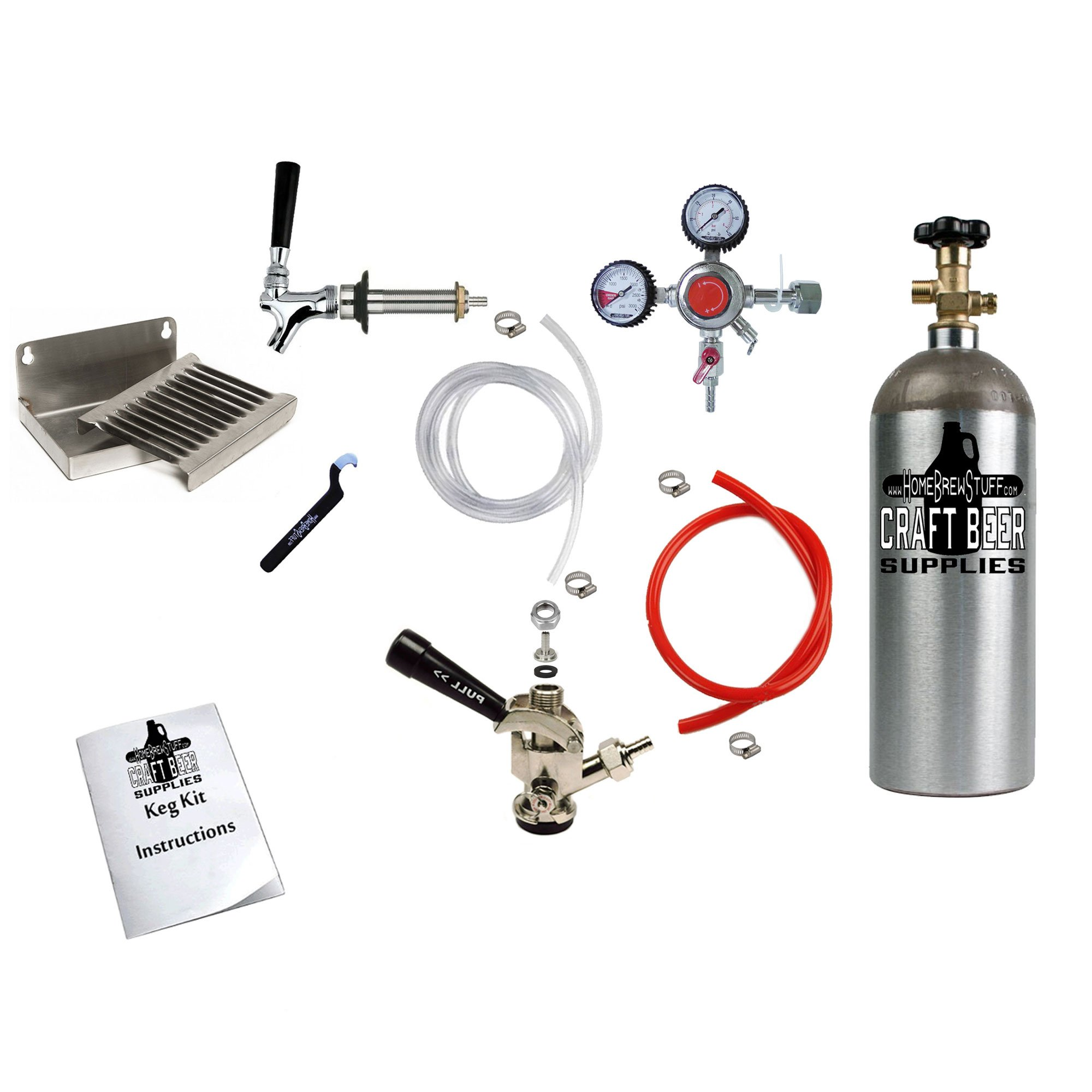 HomeBrewStuff Deluxe Door Mount Kegerator Conversion Kit with 5LB Co2 Tank 1CH-D-PR-T-DT by Home Brew Stuff