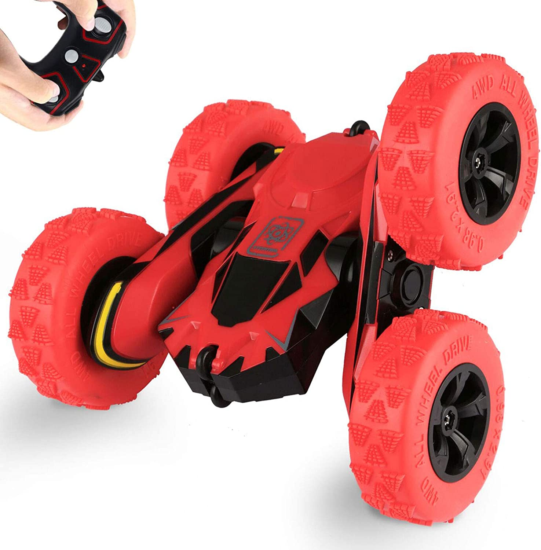 Kinderspielzeug f/ür Jungen und M/ädchen Geschenk SZJJX Fernbedienungs Auto 4WD RC Auto 2,4 GHz Stunt Rotierende 360-Grad-Flips 12 km//h Fahrzeuge