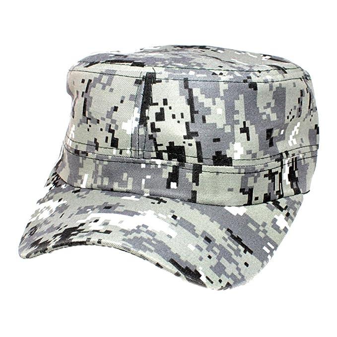 BLACK MAMUT Gorra Cubana Estilo Militar Diferentes Camuflajes Pixel y  Manchas (Camuflaje Pixel Gris) f270a62c96f