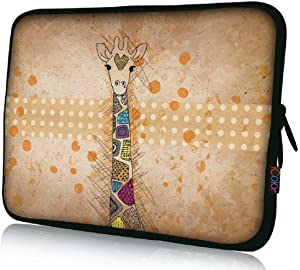 """15"""" Laptop Sleeve Bag 14.5""""~15.6"""" Notebook Computer PC Cover Carrier Holder-Giraffe"""