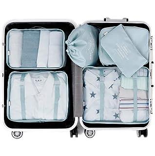 Organizadores de Viaje para Maletas, 6 Set Bolsas de Equipaje Impermeable Cubos Embalaje de Viaje