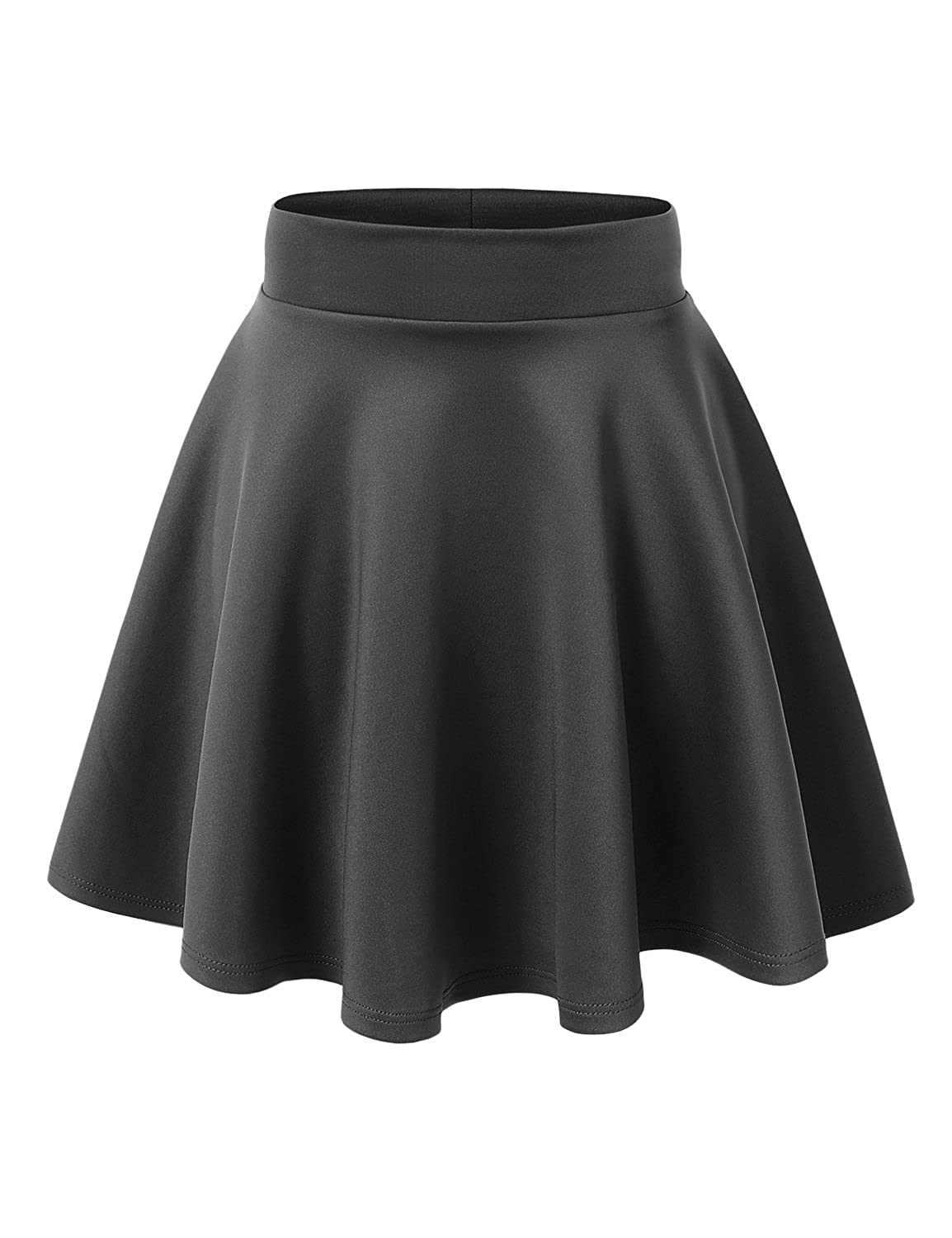 714794b7f This versatile skater skirt is a must to make an amazing outfit / Skater  skirt with a paneled stretch-knit body and concealed elastic waist