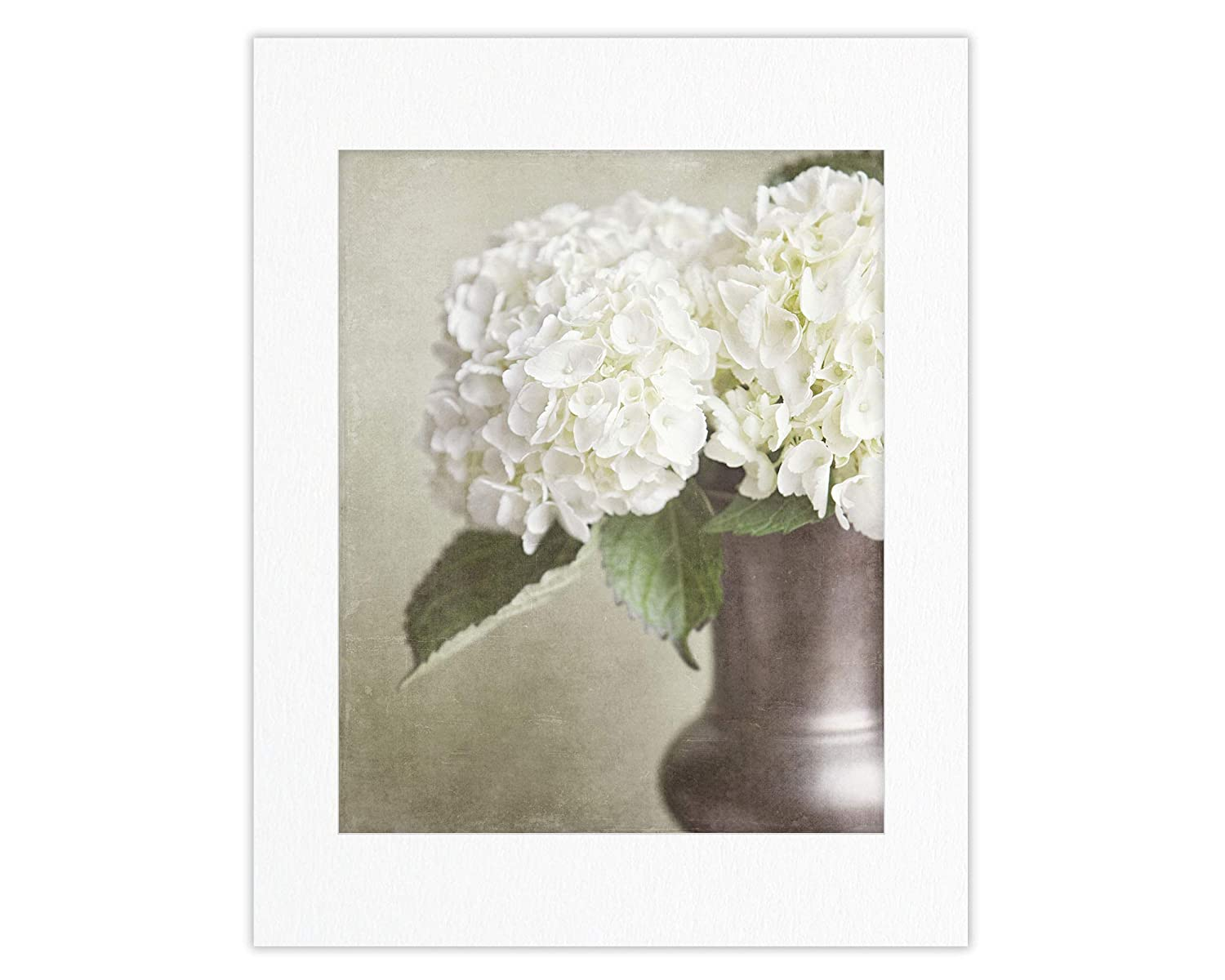 4 5x7 Prints Only Floral Prints Not Framed Bathroom or Nursery. Cherry and Dogwood Blossom Botanical Flowers Art for Bedroom Hydrangea Blue Shabby Chic Wall Decor Set of 4