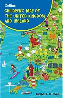 Kids Map Of England.British Map Wall Sticker Decal Fun Kids Uk Map England Ireland