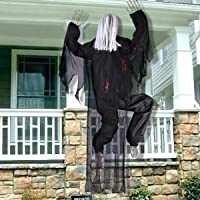 Halloween Decorations - 63 Inch Life-Size Climbing Dead Zombie Monster Prop with Metal Hooks for Hanging, Halloween…