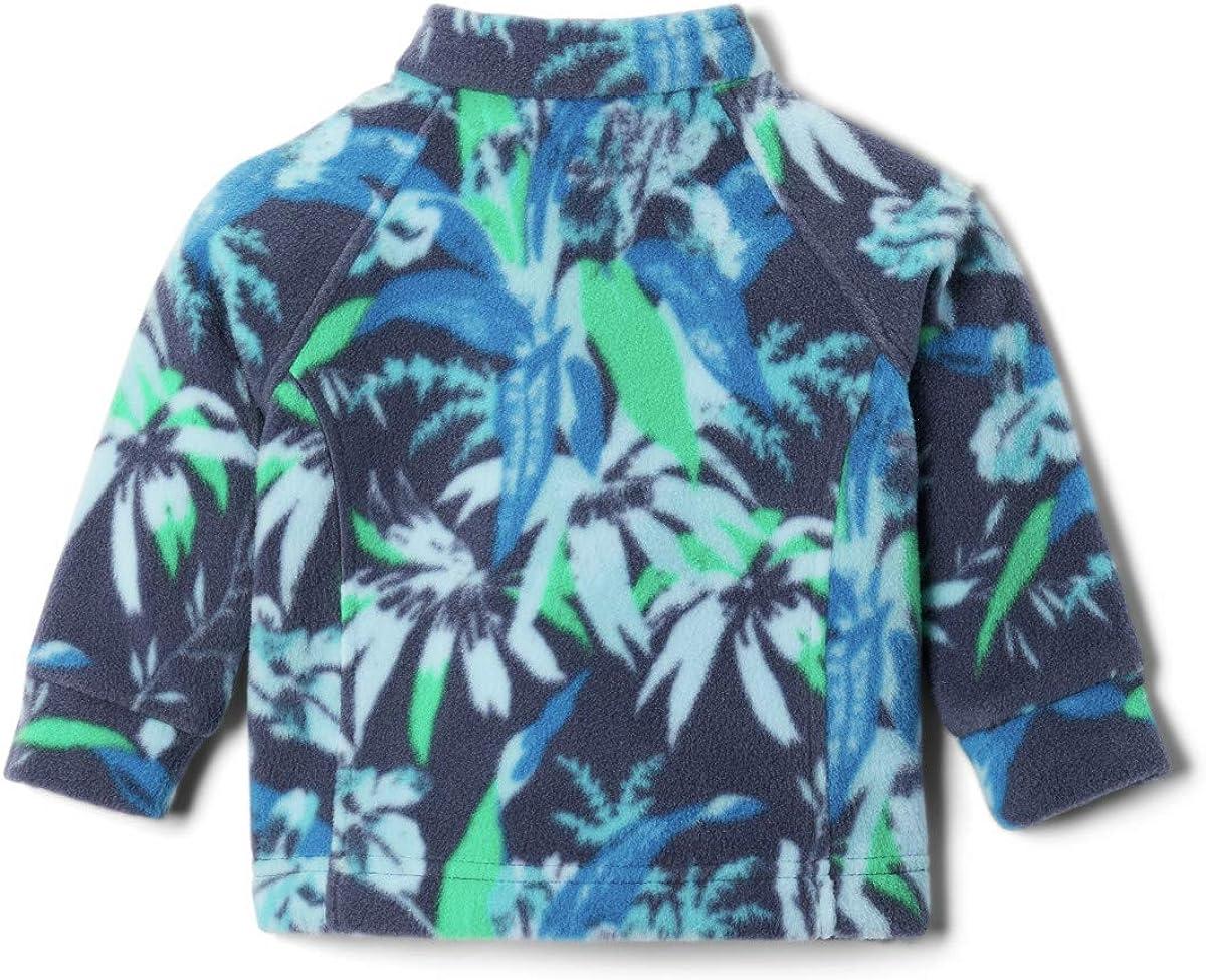 3//6 Columbia Baby Benton Springs II Printed Fleece Jacket Nocturnal Magnolia Floral