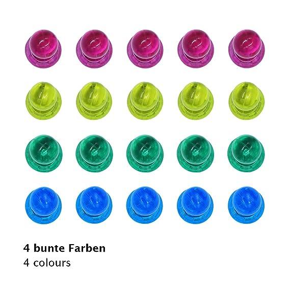 Amazon.de: WINTEX® 24 farbige Magnete in 4 Farben | 2 Jahre ...