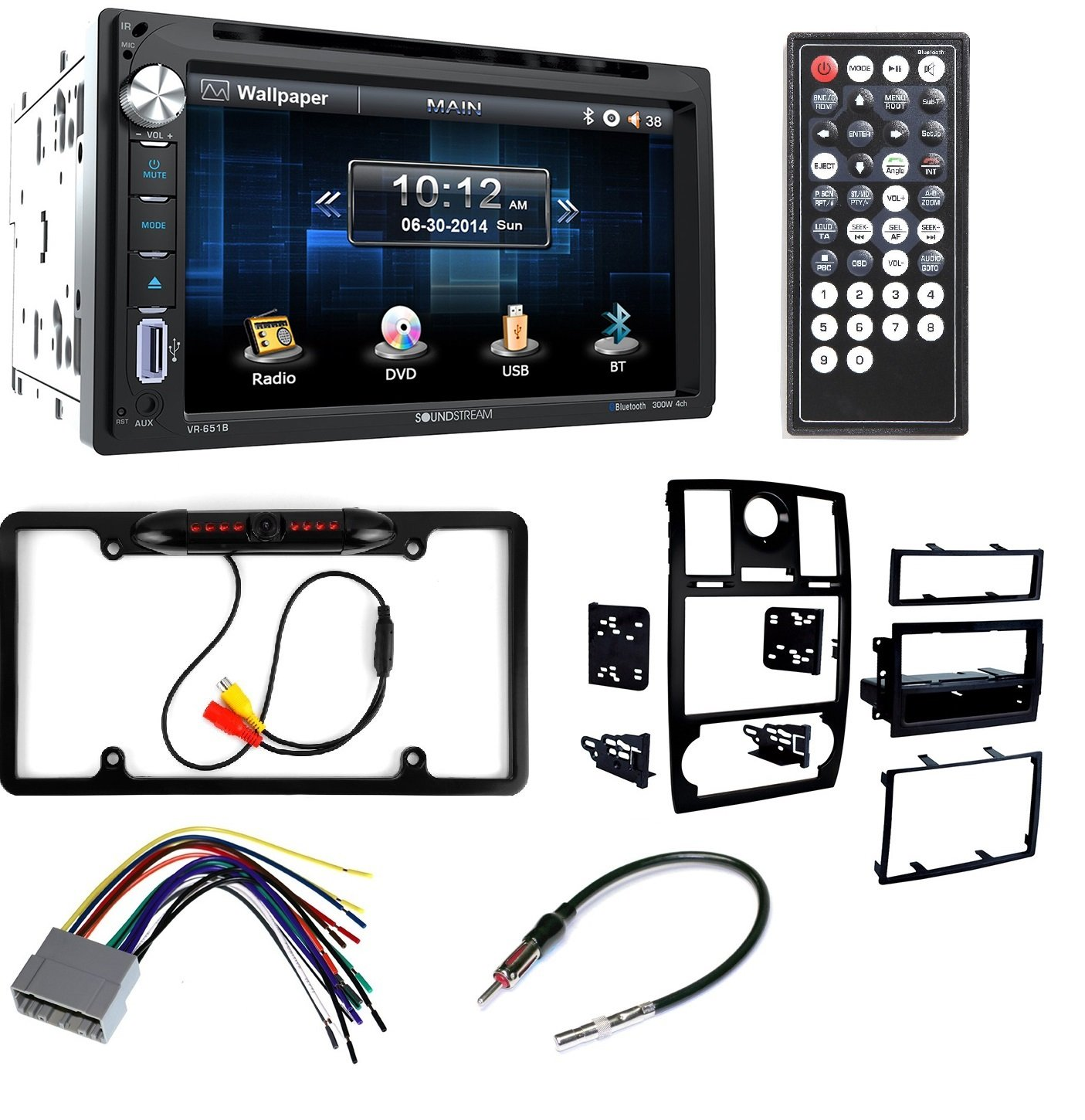 Metra 99-6516B Single/Double DIN Mounting Kit with OEM Bezel for 2005-07 Chrysler 300 Vehicles + Soundstream VR-651B Double DIN Multimedia Source Unit with 6.5″ LCD Touch Screen/Bluetooth by CACHE, METRA, AMERICAN INTERNATIONAL, PIONEER
