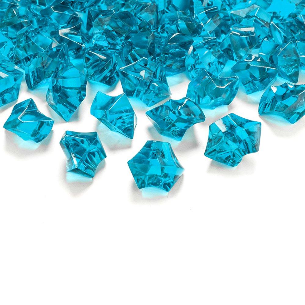 50 Kristall-Steine Türkis 25 mm - Eis Deko Streudeko Diamanten Tischdeko Goodymax