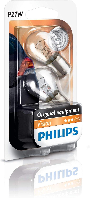 2 Stück 12 V 21 W Philips P21W Glühlampe