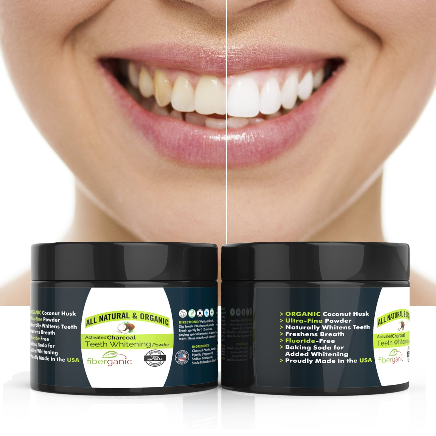 Amazon Com Natural Organic Teeth Whitening Activated Charcoal