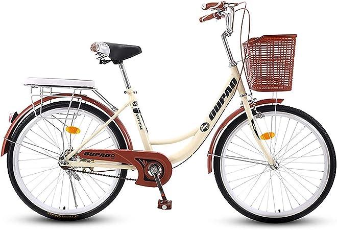 GOLDGOD Clásico Clásico City Bicicleta 26 Pulgadas para Mujer ...