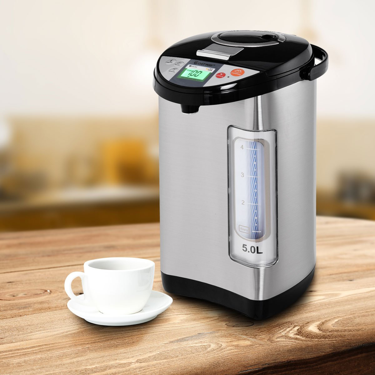 Amazon.com: Costway Instant Electric Hot Water Pot, Safety Lock to ...