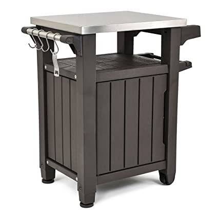 Bbq Side Table With Storage.Keter Unity Indoor Outdoor Bbq Entertainment Storage Table