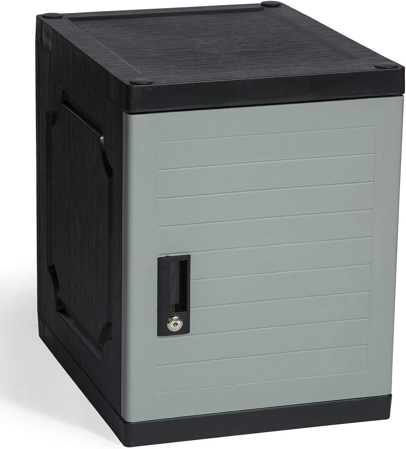 "Amazon.com: Jink Locker - Lockable Storage Cabinet With Keys, 19"" - Great Locking Storage Box Solution For Home, Garage, Office Or Outdoor (Gray): Kitchen & Dining"