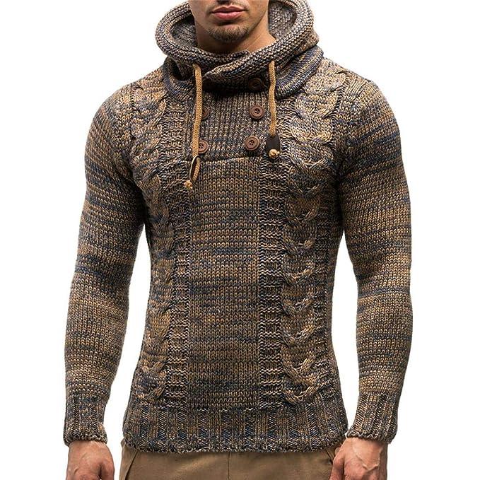♚Pulóver de Punto para Hombres, Chaqueta de Abrigo con Capucha de otoño Invierno Cardigan Coat Outwear Absolute: Amazon.es: Ropa y accesorios