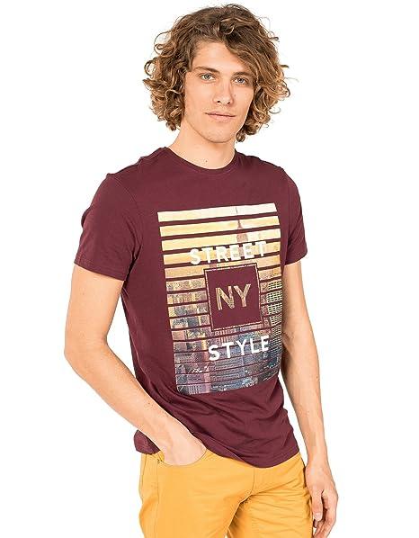 Stampa Con New Clayton itAbbigliamento T Shirt YorkAmazon PkOXZiuT