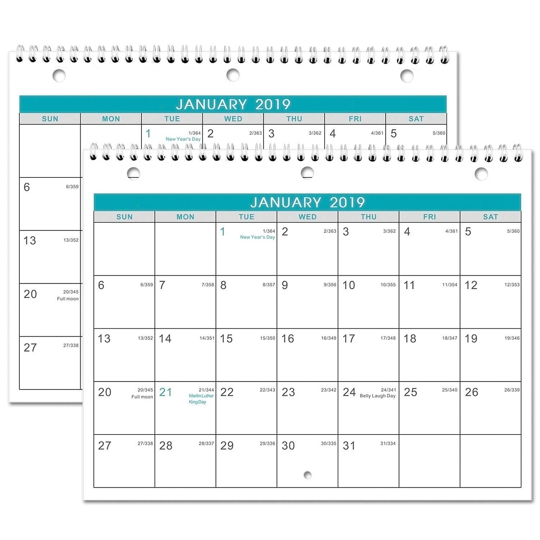 December Lined 2019 Month Calendar Amazon.: 2019 Calendar   2 Pack Monthly Wall/Desk Calendar