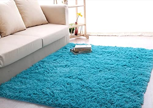 Newrara Super Soft 4.5 cm Thick Modern Shag Area Rugs Living Room Carpet Bedroom Rug