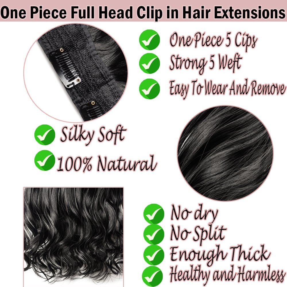 Amazon S Noilite 17 27 125g Thick Straight Curly Wavy One