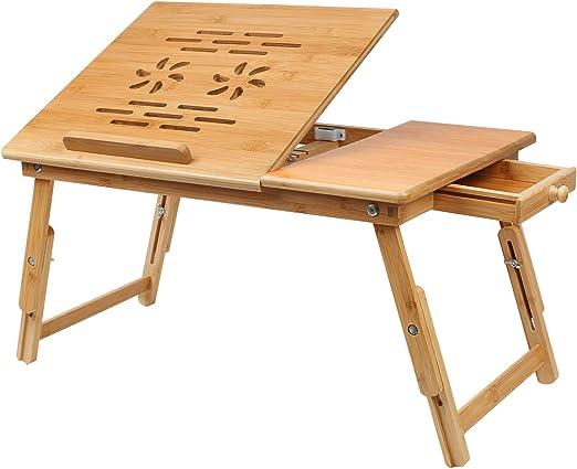 Hossejoy - Mesa Plegable de bambú para Ordenador portátil, para ...