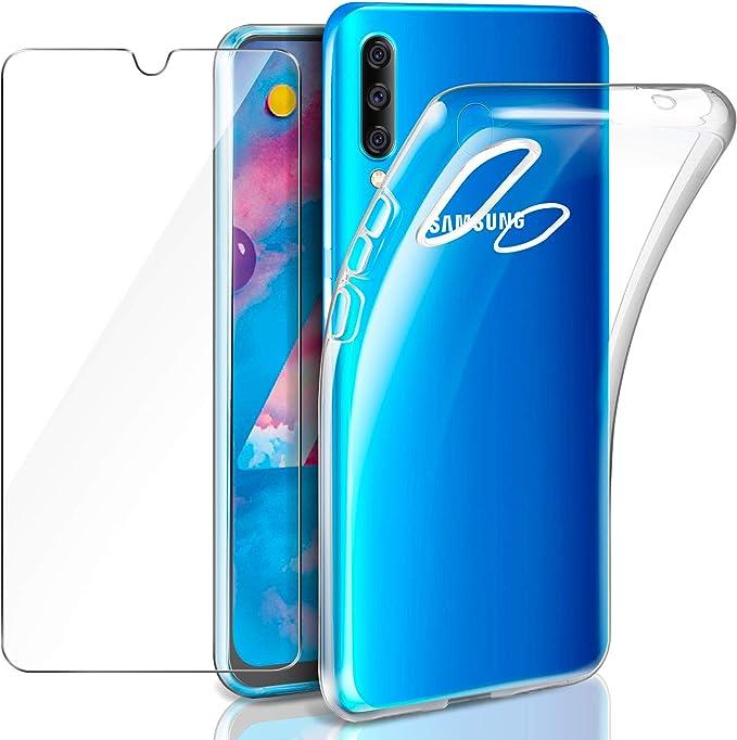 Leathlux Samsung Galaxy M30 Funda + Cristal Protector de Pantalla ...