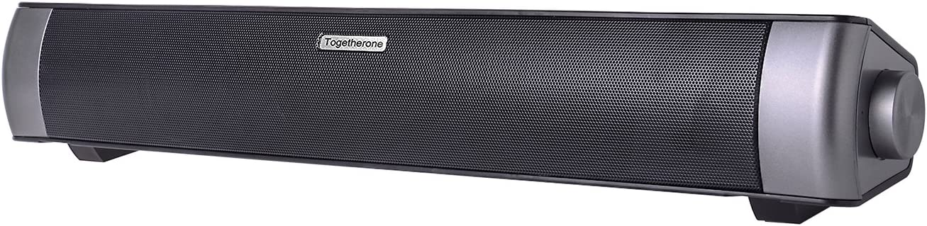Soundbar, TV Sound Bar Bluetooth Soundbar Wired and Wireless Bluetooth Speakers with NFC, 24-Hour Playtime, 10 W Dual Drivers Handsfree Function for TV, Echo Dot, iPhone, iPad, Samsung, Tablet, PC, Hua: Amazon.es: