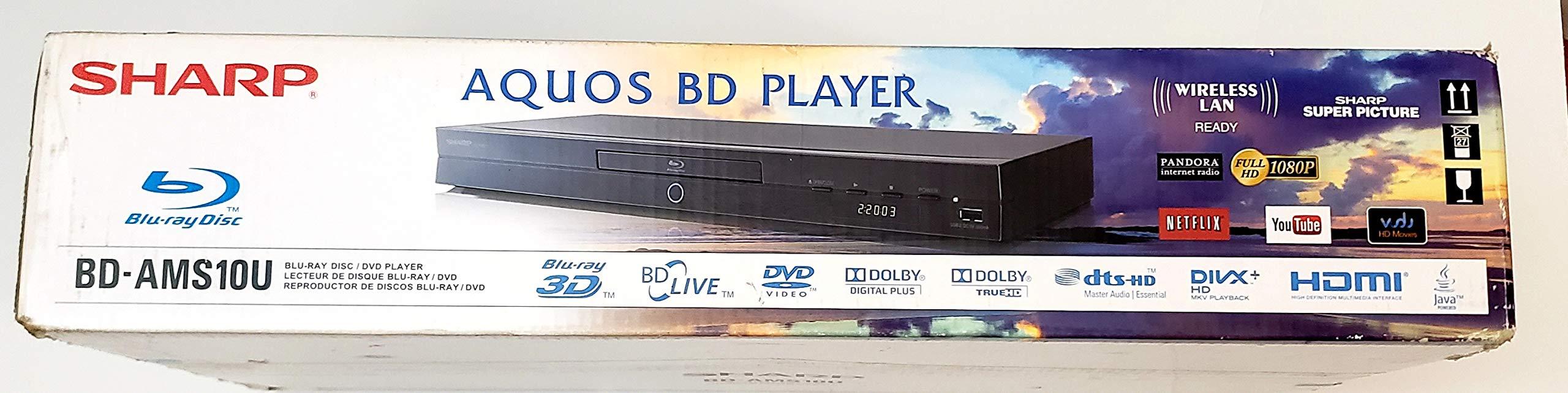 SHARP Blue-RAY DISC / DVD Player (BD - AMS10U)