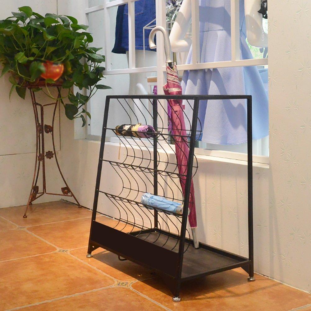 B ZHPRZD Iron Umbrella Stand, Hotel Mall Office Home Storage Shelf, Landing Umbrella Stand, Trapezoidal 60  36  67cm Umbrella Stand (color   B)