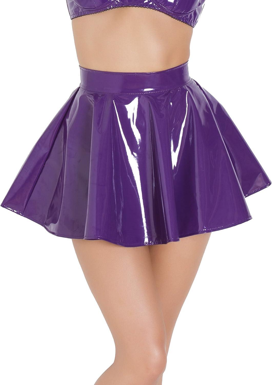 Honour - Falda para patinaje (PVC, talla 4), color morado: Amazon ...