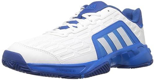 adidas Performance Men's Barricade Court 2 Tennis Shoe,White/White/Shock Blue,11 M US